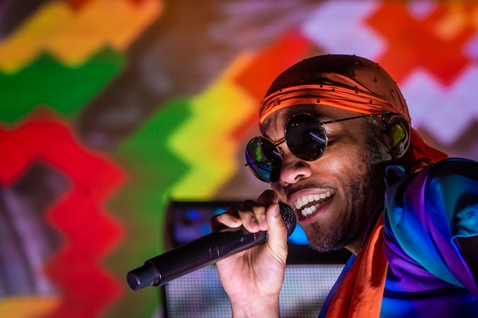 Anderson .Paak performs Saturday night at the Forecastle Festival. July 12, 2019