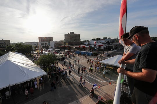 People enjoy SubFest Saturday, July 13, 2019, in Manitowoc, Wis. Joshua Clark/USA TODAY NETWORK-Wisconsin