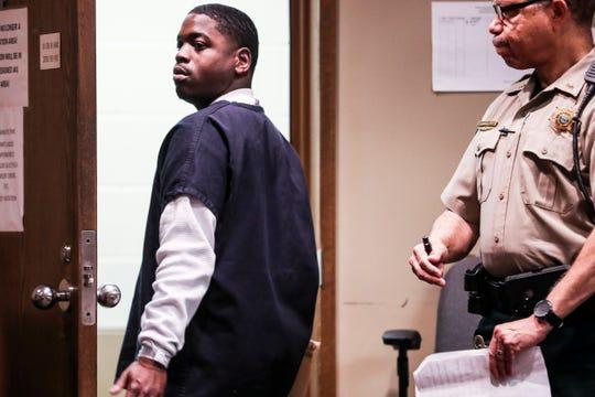 McKinney Wright Jr. appears in court July 11, 2019.