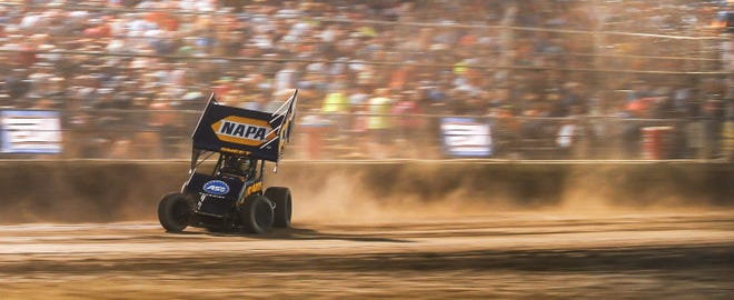 Brad Sweet won the World of Outlaws' 2019 stop at Beaver Dam Raceway for his second victory at the track.