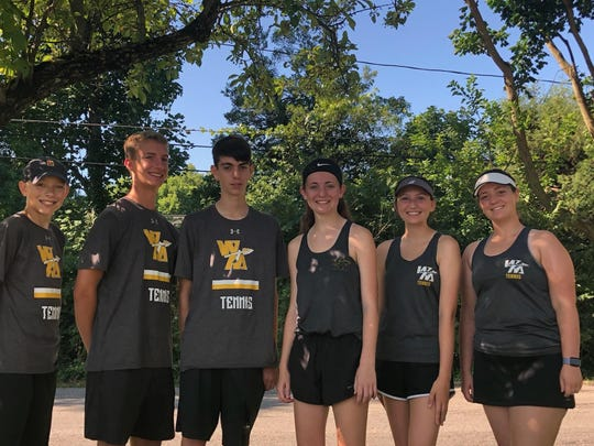 Watkins' summer team recently finished runner-up in United States Tennis Association league play.