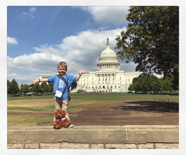Grant Leonard poses in front of the United States Capitol in Washington, D.C.