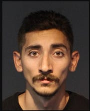 Alex Arias, 23, pictured, and Jorge Arias were arrested Saturday July 13 after the Washoe County Sheriff's Department said they were target shooting and sparked the Jasper Fire.