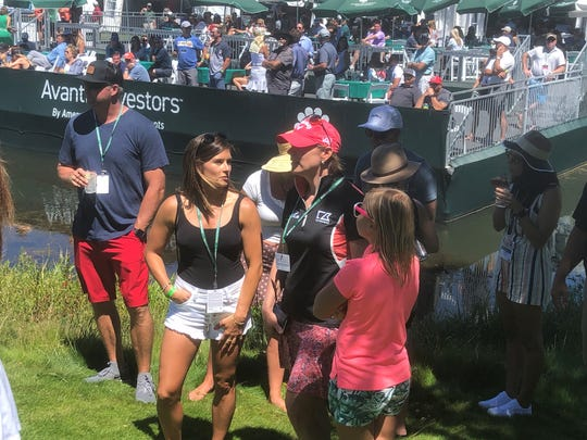 Danica Patrick and Annika Sorenstam were at Edgewood Tahoe for the celebrity golf tournament