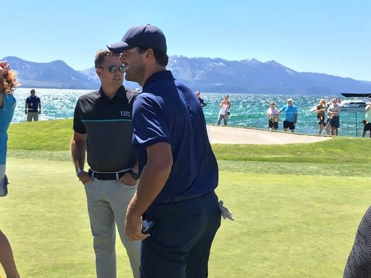 Tony Romo defended his title at the  celebrity golf tournament at Edgewood Tahoe on Sunday