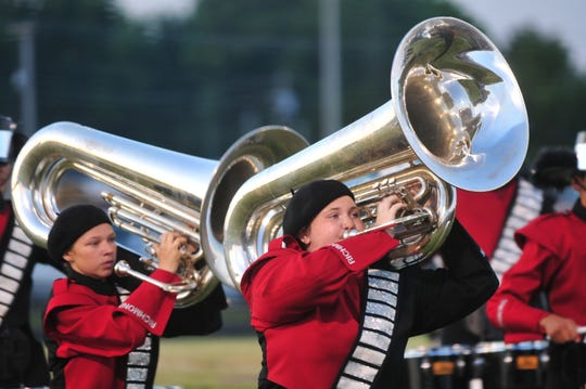 Richmond High School's marching band placed eighth Saturday, July 13, 2019, at the Archway Classic in Centerville.