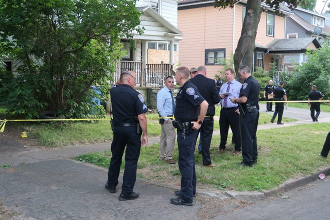 Rochester police on scene of a suspicious unattended death on Lake View Park Saturday.