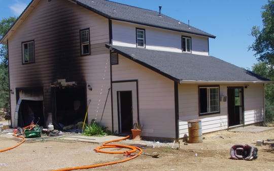 A home on Yuki Yama Lane east of Redding caught fire on Sunday. The cause of the blaze was under investigation but no one was at home with the fire broke out at about 12:35 p.m.
