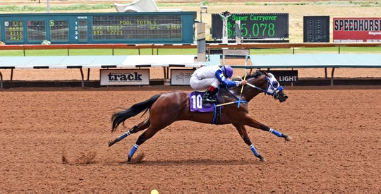 Hotsempting will compete in the Ruidoso Futurity on Sunday in Ruidoso