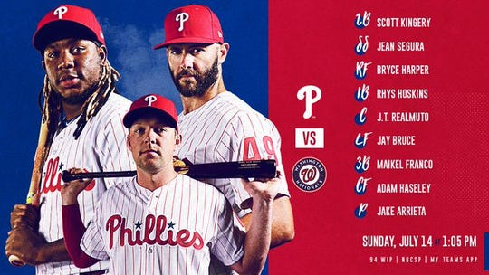 Phillies' lineup Sunday vs. Nationals.