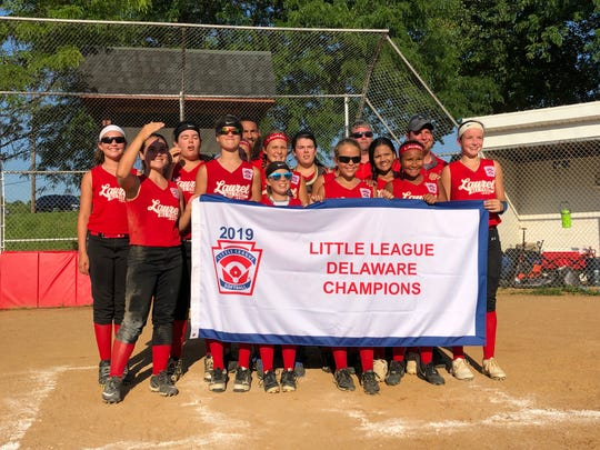 Laurel defeated Camden-Wyoming 2-1 on July 13 to claim the softball Little League major state championship and advance to the east regional in Connecticut.