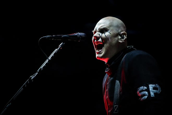 Smashing Pumpkins singer Billy Corgan performs at the 2019 Alive Festival in Oeiras, outskirts of Lisbon, Portugal. Corgan has been in Nashville working on a new Smashing Pumpkins record along with running the National Wrestling Alliance.