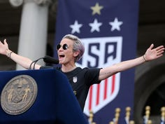 Megan Rapinoe may not run for office but she will 'fight for equal pay every day'