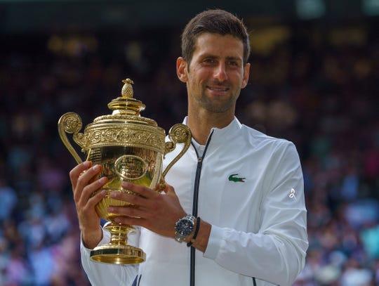 JNovak Djokovic after his epic men's final match against Roger Federer on Sunday.
