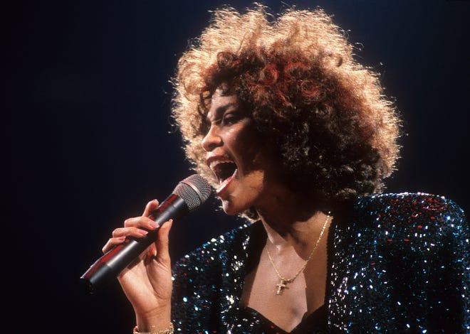 September 8, 1987; New York, NY, USA; Whitney Houston in concert at Madison Square Garden on September 8, 1987.