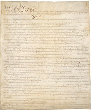 The U.S. Constitution was signed by 39 of America's founding fathers on Sept. 17, 1787.