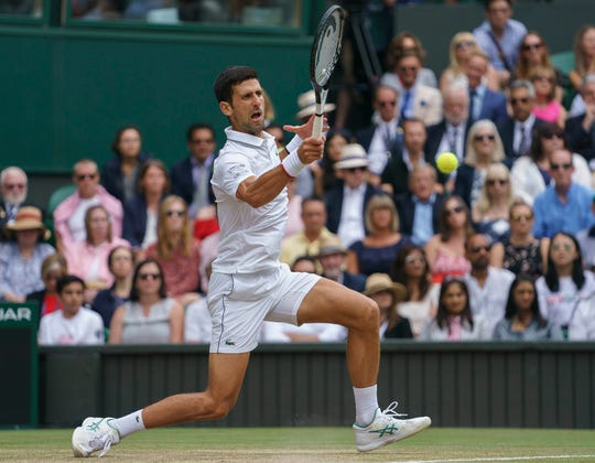 Novak Djokovic beat Roger Federer for his fifth Wimbledon singles title Sunday.