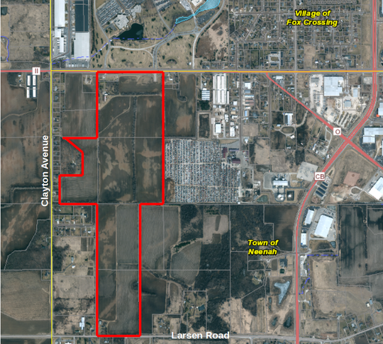 The Neenah Joint School District may purchase a 225-acre property on the south side of Winchester Road and east of Clayton Avenue.