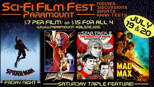 Sci-Fi Film Fest will be July 19 and 20 at the Paramount Theatre.