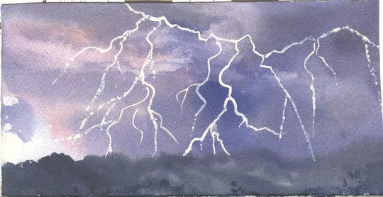 Lightning, illustrated by Elizabeth Ellison