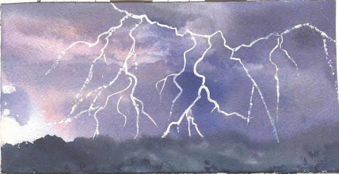 Lightning, illustrated by Elizabeth Ellison