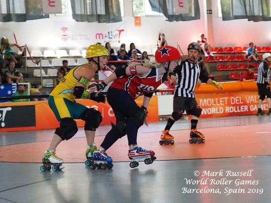 Aqua Meinheit of Port Orchard competes for Team  USA at the World Roller Games.