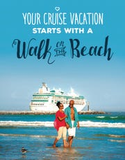 This Space Coast Office of Tourism ad seeks to promote the idea to Port Canaveral cruise passengers of starting their vacation with a stay in Brevard County.