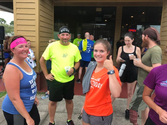 Runners cool off after last week's Summer Brewery & Running Tour stop at Bugnutty Brewing Company on Merritt Island.