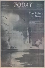 The front page of TODAY newspaper on July 17, 1969.