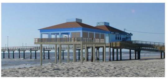 A rendering of the proposed observation deck to be constructed at Horace Caldwell Pier in Port Aransas.