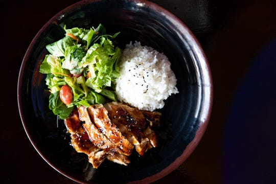 Chicken teriyaki at Corpus Christi's Crescendo Cafe located at 5118 S. Staples St.
