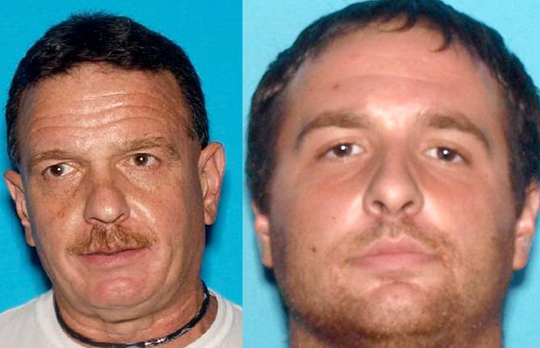 Paul Deola, left, and Paul Deola IV, both of Buena Vista, faced drug and gun charges.