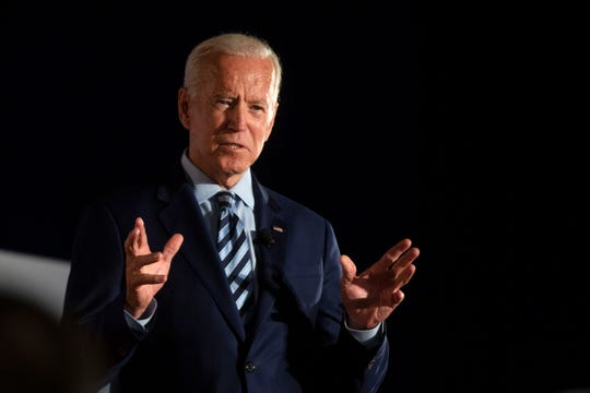 Former Vice President Joe Biden speaks during the AARP Presidential Forum at Drake University's Olmsted Center in Des Moines, Iowa on July 15, 2019.