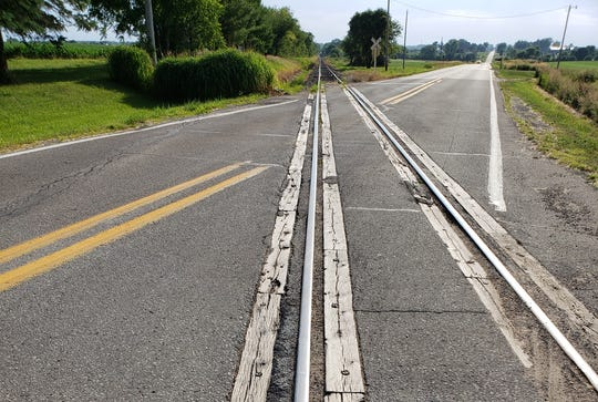 Railroad tracks run diagonally across Northeast 54th Avenue between Altoona and Mitchellville. The tracks were the site of at least four wrecks during Saturday's Altoona Tune-Up bike ride, according to Polk County Dispatch records.