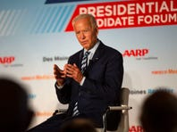 Joe Biden remarks on gene sequencing, leans on moderator Kay Henderson at AARP Forum