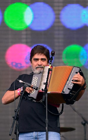 Mexican singer Celso Pina performs at the Vive Latino 2013 Music Fest at the Foro Sol in Mexico City on March 17, 2013.