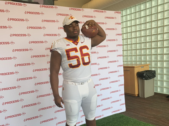 Willis Singleton during a March unofficial visit to Iowa State.