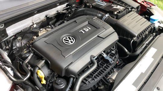 The VW Arteon's 2.0L turbocharged engine produces 268 hp but requires premium gasoline.