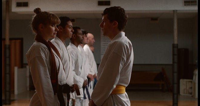 """Imogen Poots and Jesse Eisenberg in """"The Art of Self-Defense."""""""