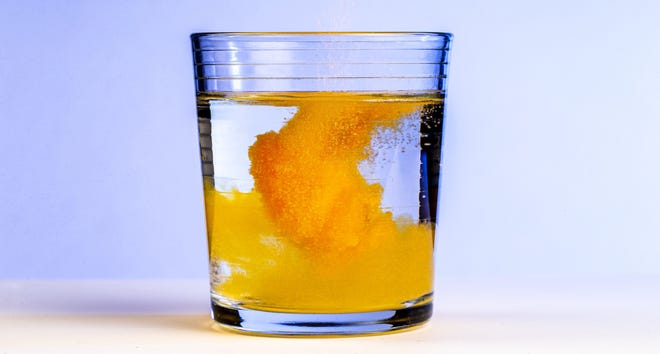 Two full tablespoons of sugary powder are called for to make one eight-ounce glass of Tang, with natural flavor and the artificial colors that make it glow a lurid tangerine accounting for less than 2% of the mix.