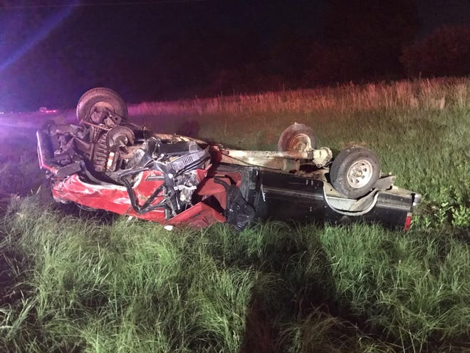A pickup truck driver was killed in a rollover crash on I-64 this weekend, according to the Vanderburgh County Sheriff's Office.