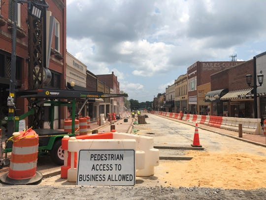 Greer's CenterG streetscape and infrastructure improvement project is expected to be completed by July 2020