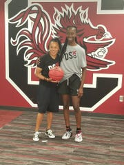 Camden eighth-grader Joyce Edwards was offered by South Carolina over the weekend.