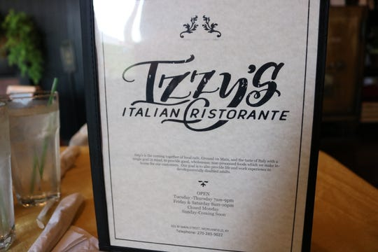 Izzy's Italian Ristorante is now open Tuesday-Thursday from 7 a.m. - 9 p.m., Friday-Saturday from 8 a.m. - 10 p.m. They are closed on Mondays. Their menu promises for an opening on Sunday coming soon.