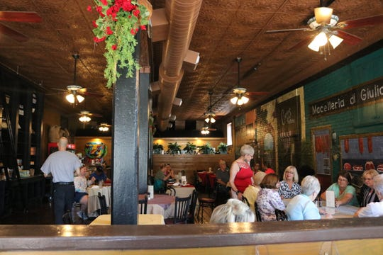 Izzy's was full of local customers last Thursday afternoon.