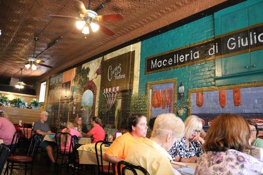 Art in the restaurant was created by local artist Steve Kendrick Lane and Mind Eyes Studio artist Rebecca Jo Goodman.