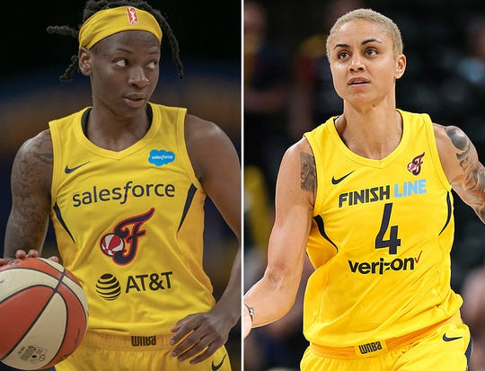 Erica Wheeler (left) and Candice Dupree (right) were named WNBA All-Stars reserves.