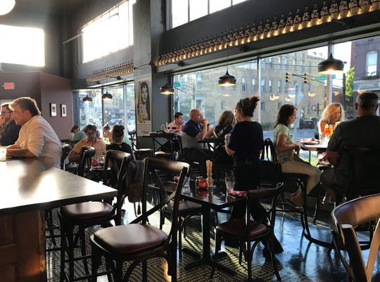 The dining room is tucked close to the bar, making for a friendly atmosphere at Maialina Italian Kitchen + Bar. The restaurant opened July 15, 2019, at the former Smokehouse on Shelby, 1105 Prospect St., in the Fountain Square neighborhood of Indianapolis.