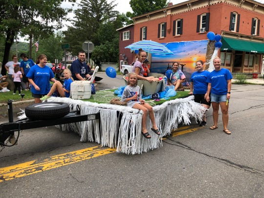 The Tioga State Bank float in last year's Spencer Picnic parade.