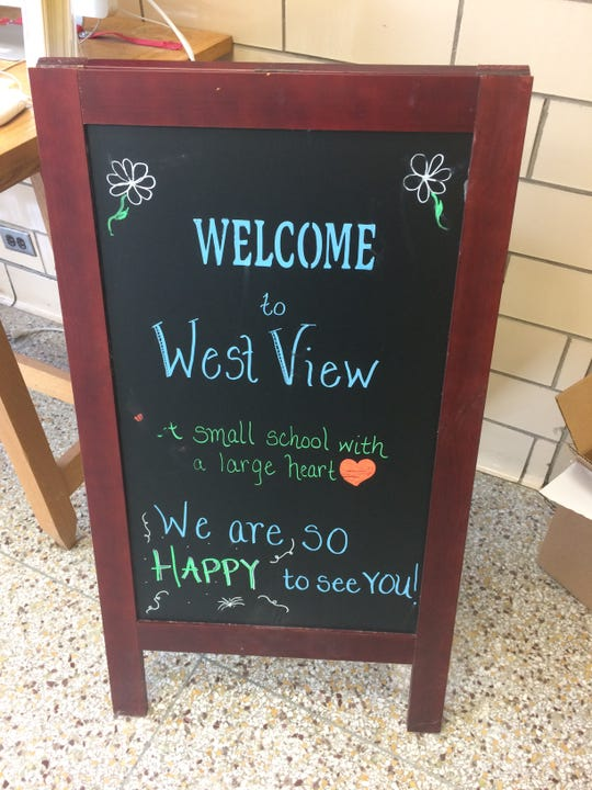 "West View Elementary School bills itself as ""a small school with a large heart."""